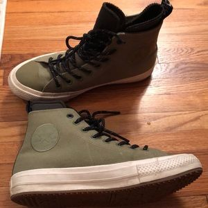 Green high top converse with neoprene lining
